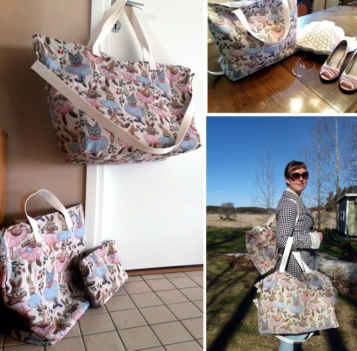 Weekendbag. Egen design. 3:e i settet (av 4 egentligen)
