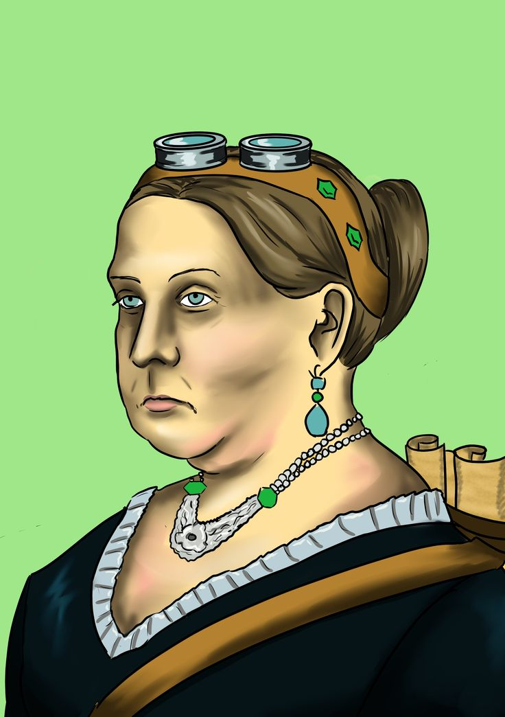 Ivarantha Verneast (Famous Engineer) (What do you mean that's just a traced picture of Queen Victoria with wonky goggles drawn on what do you MEAN)