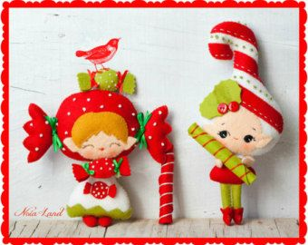 Candle angel. Christmas. PDF pattern. Felt doll. by Noialand
