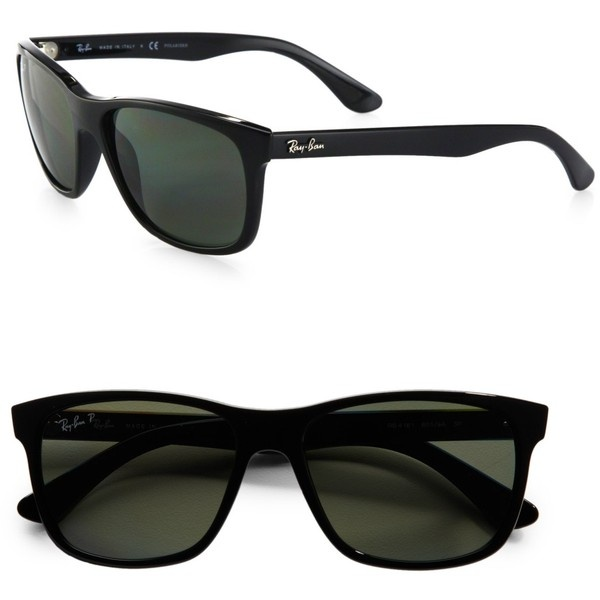 Ray-Ban Square Top Acetate Sunglasses ($175) ❤ liked on Polyvore