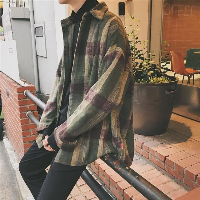 Oversized Vintage Flannel Shirt Jacket Unisex Shirt Flannel Jacket Plaid Fashioninspo F Flannel Outfits Men Vintage Flannel Shirt Flannel Outfits Fall