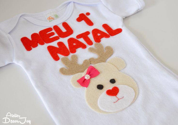 #BodyPersonalizado #BodyBebê #BodyMenina #BodyGirl #BodyInfantil #BodyEstampado #Bebê #Baby #RoupaInfantil #Moda #Feltro #Aplicação #CháDeBebê #Bodies #Festa #Natal #Christmas #Rena #SantaClaus #PapaiNoel #Felt