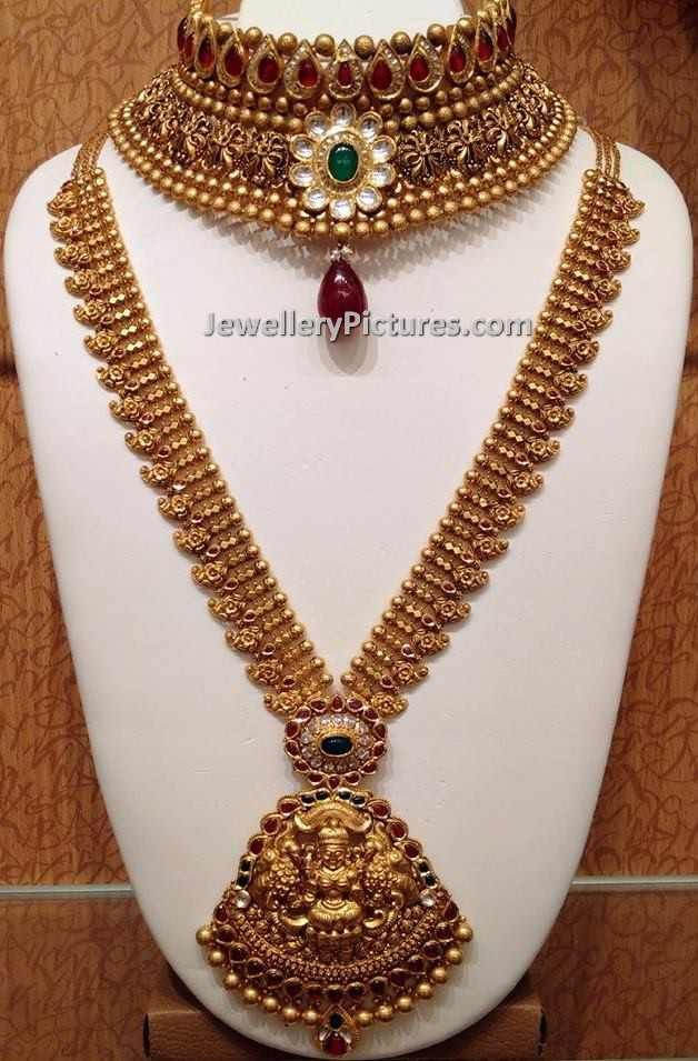 395 best gold necklace images on Pinterest Indian jewellery