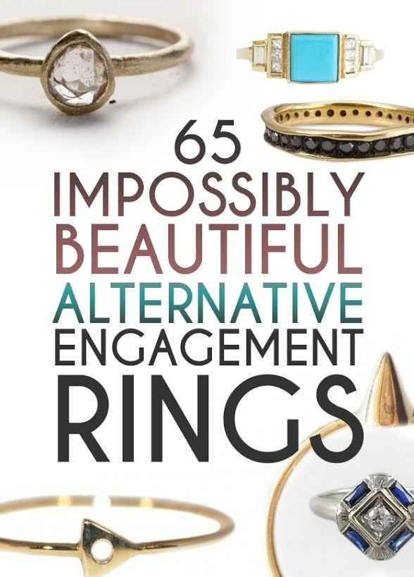 65 Impossibly Beautiful Alternative Engagement Rings You'll Want To Say Yes To I know i don't usually pin wedding type things but these are so beautiful and unique!