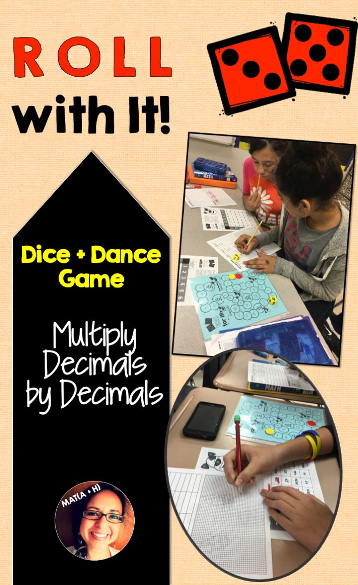 Multiply Decimals by Decimals A Dance Game Multiplying