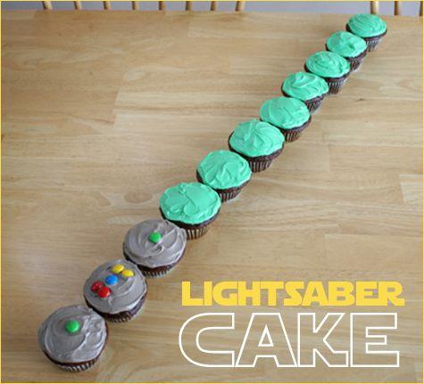 Lightsaber Pull Apart Cupcake Cake