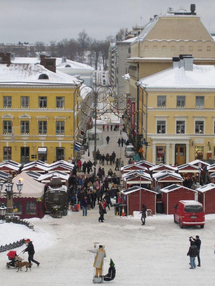 Christmas market in Helsinki, Finland.