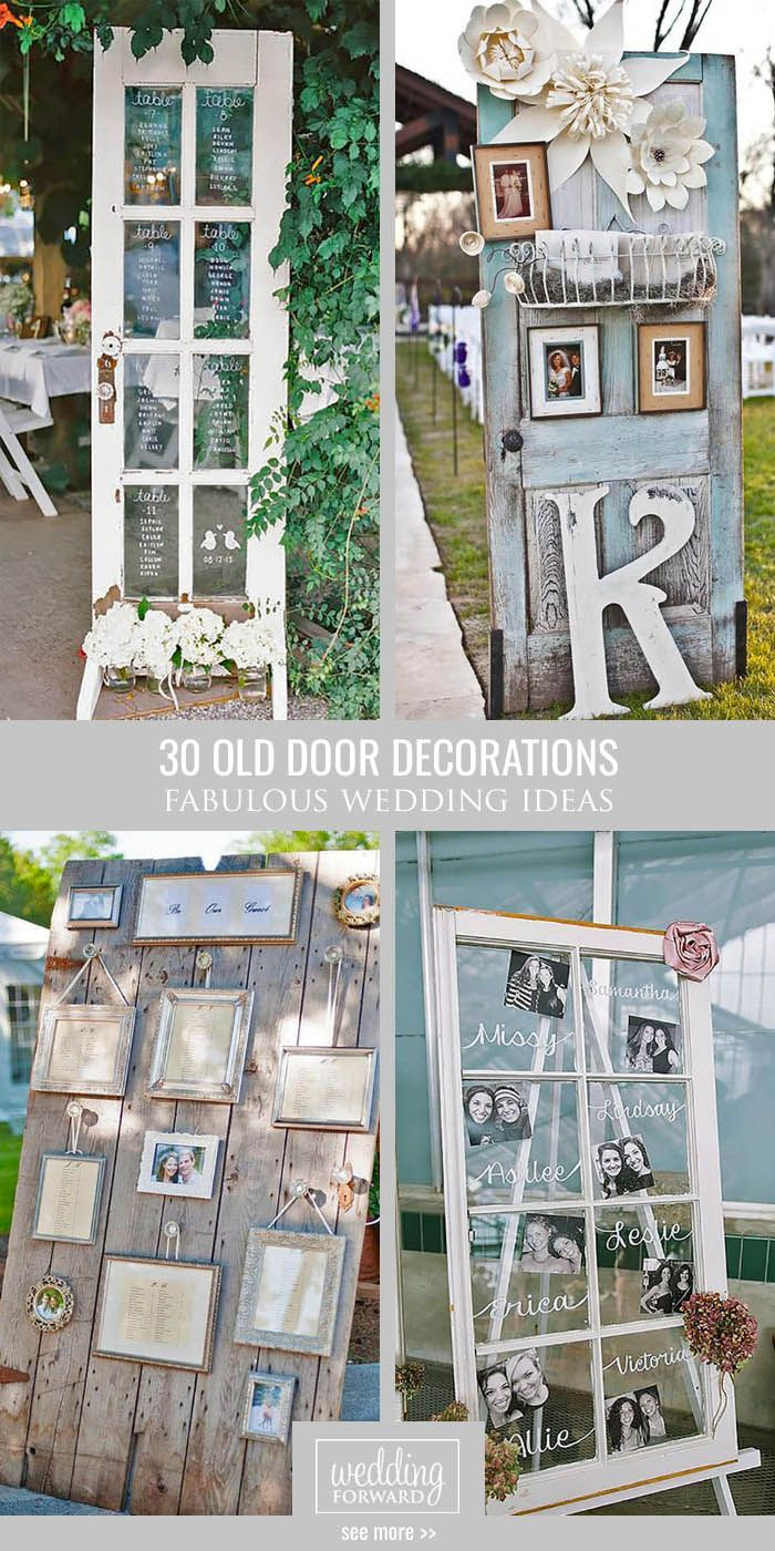 30 fabulous rustic old door wedding decoration ideas for Decorations for weddings at home