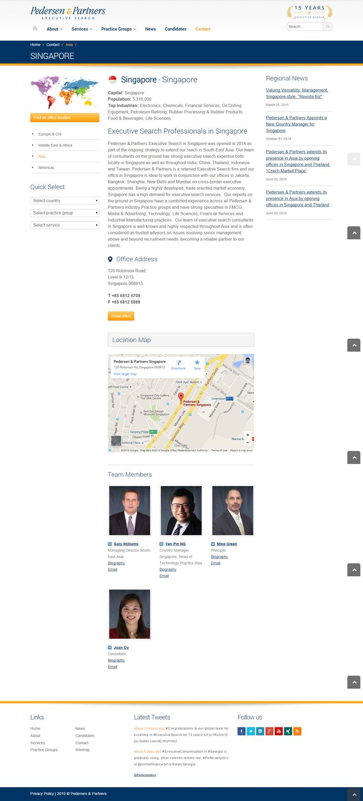 cool Good Website Samples for Singapore headhunter & Employment agency in Singapore