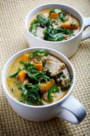 Chicken, Spinach and Lentil Coconut Curry