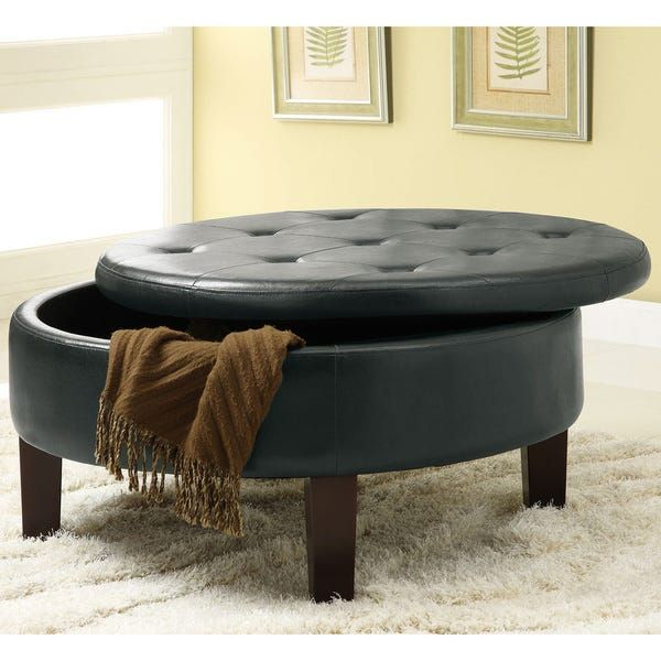 Overstock Com Online Shopping Bedding Furniture Electronics Jewelry Clothing More In 2020 Round Storage Ottoman Leather Ottoman Coffee Table Tufted Ottoman Coffee Table