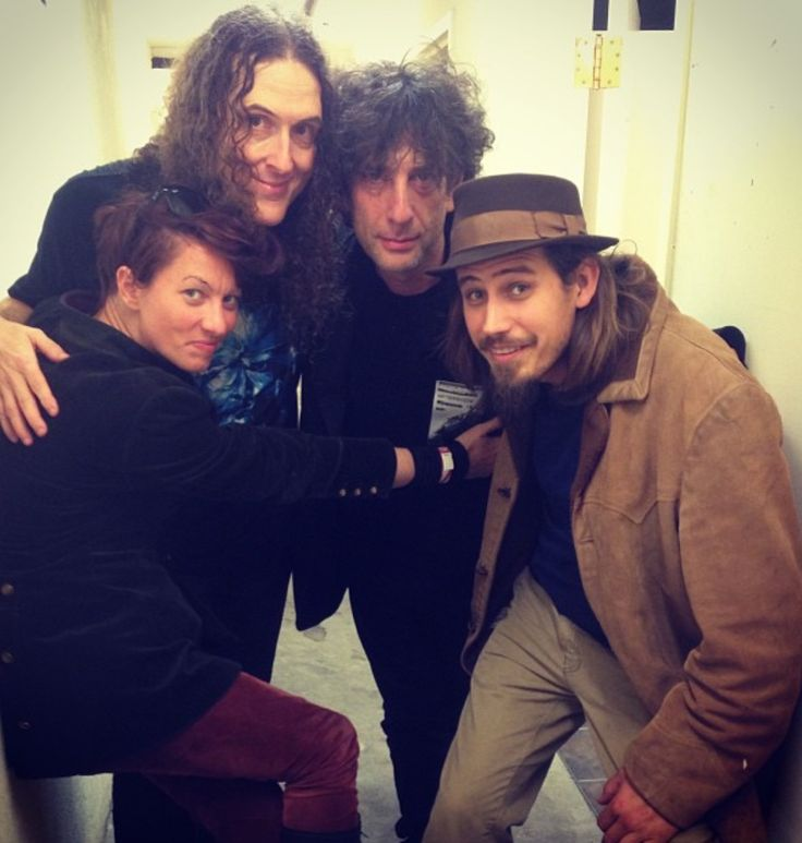Weird Al, Neil Gaiman and Amanda Palmer. Just hanging out...