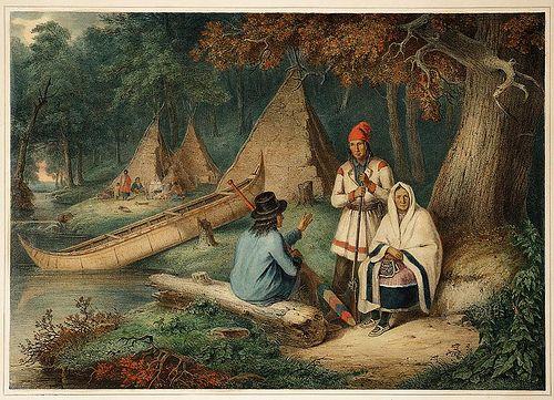 Indian Wigwam in Lower Canada (1848)