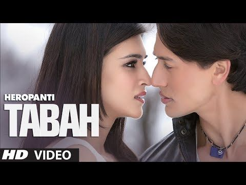 """Experience the voice of melody maestro Mohit Chauhan in the song Tabah from """"Heropanti"""" starring Tiger Shroff and Kriti Sanon. The music is composed by Sajid-Wajid and lyrics are written by Kausar Munir."""