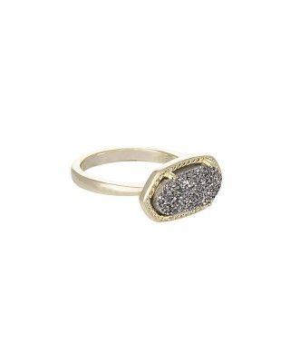 New GlamRocks collection from @kendra_scott - Ella Ring in Platinum Drusy $60