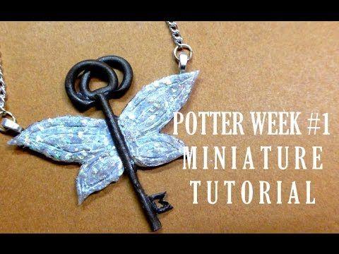 Harry Potter Flying Key Pendant polymer clay tutorial