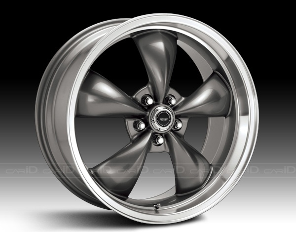 American Racing TORQ THRUST M Style Anthracite with Machined Lip Wheel