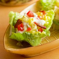 Lettuce Cups with Blue and Bacon  Better Homes and Gardens  http://www.bhg.com/recipe/lettuce-cups-with-blue-and-bacon/#