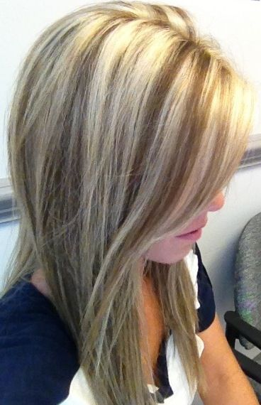 blonde highlights... I definitely think I'm going to add more blonde
