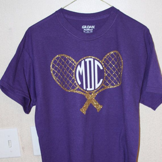 Tennis Shirt with Custom Monogam Tennis Monogram Comes in red and blue too! We could get these for our team next year!