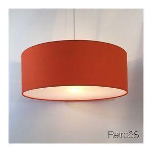 Handmade-45cm-18-Orange-Cotton-Fabric-Lightshade-Diffuser