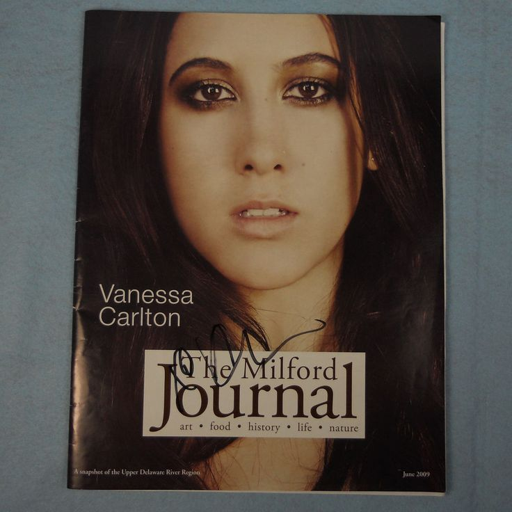 Vanessa Carlton The Milford Journal Signed Autographed with Set List