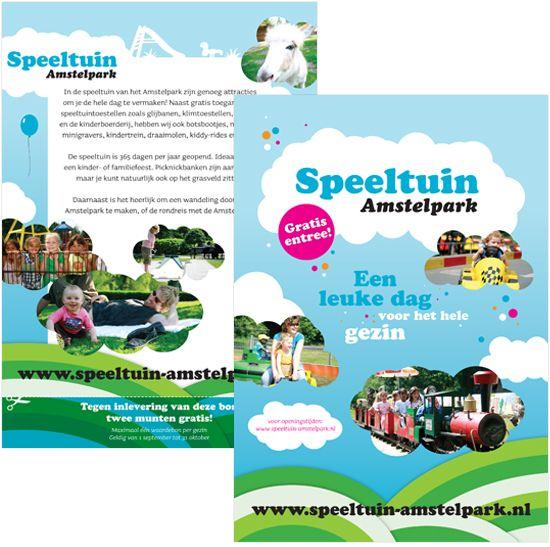 Het Amstelpark: je hebt er een grote speeltuin, kinderboerderij, midgetgolf, een treintje, een prachtig park,bootjes. Ja, wat is er eigenlijk niet?