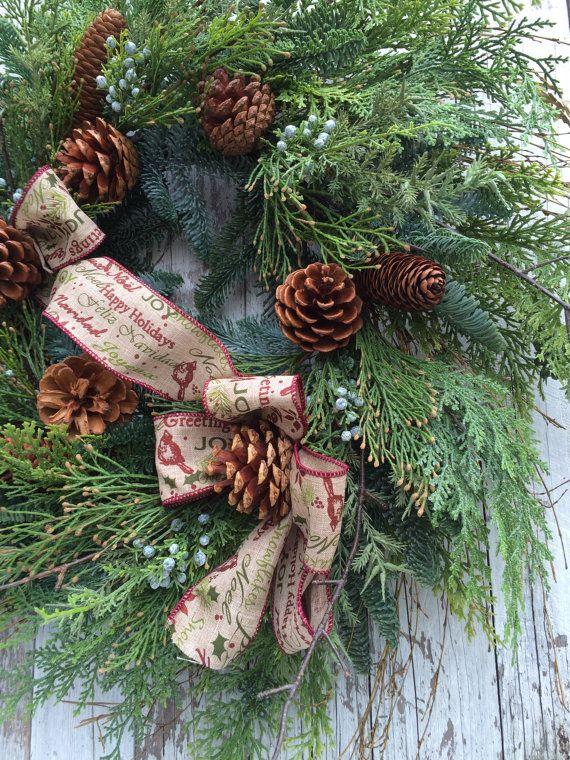 Large Christmas Wreath Large Christmas Wreath by marigoldsdesigns