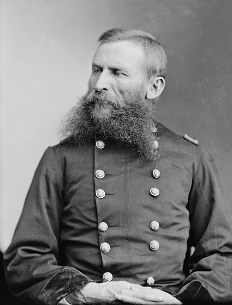 "George R. Crook (September 8, 1828 – March 21, 1890) was a career United States Army officer, most noted for his distinguished service during the American Civil War and the Indian Wars. During the 1880s, the Apache nicknamed Crook Nantan Lupan, which means ""Grey Wolf."""
