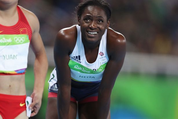 Daryll Neita after failing to qualify in the Womens 100m at the Rio 2016 Olympics
