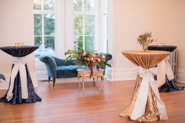 Autumn Colored Wedding in North Carolina- reception style- cocktail tables- florals
