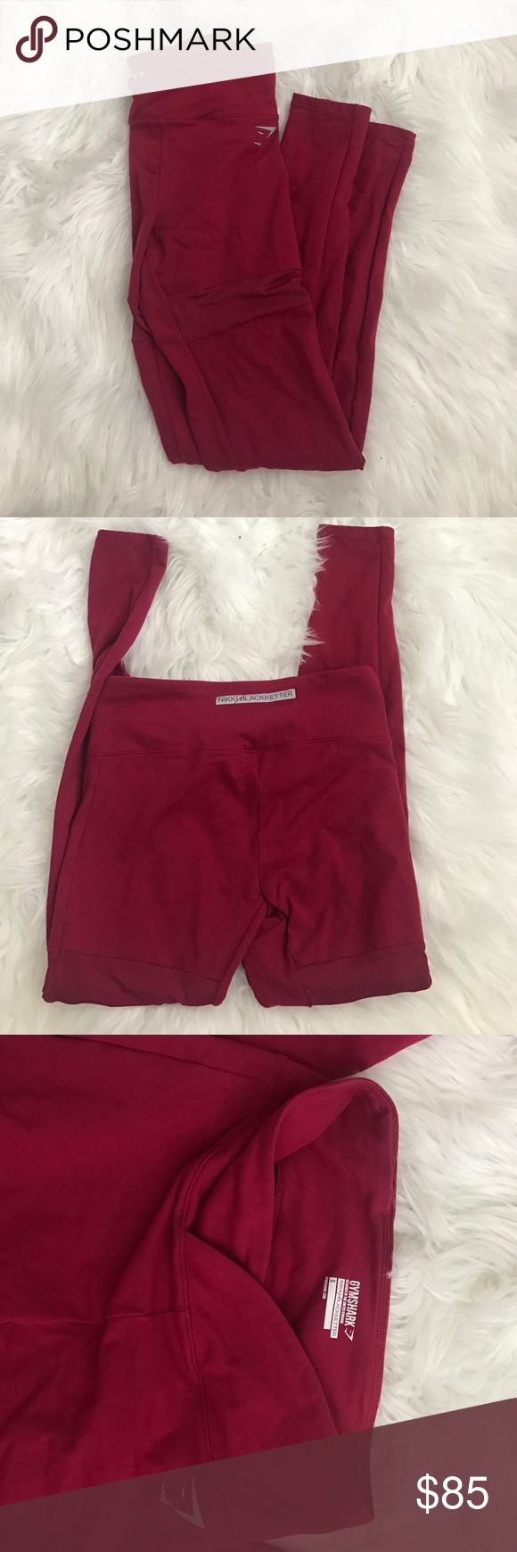 Gymshark x Nikki blackketter leggings Perfect condition, never worn, only tried on. Sold out and never releasing again. gymshark Pants Leggings