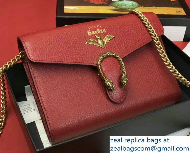 0bbe4e027d9 Gucci Garden Dionysus Mini Chain Wallet Bag 516920 Bat Red 2018 ...