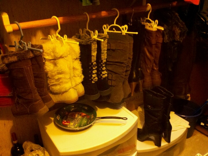 Part of my boot collection :-) | Living Room / Bedroom Combo (Before ...