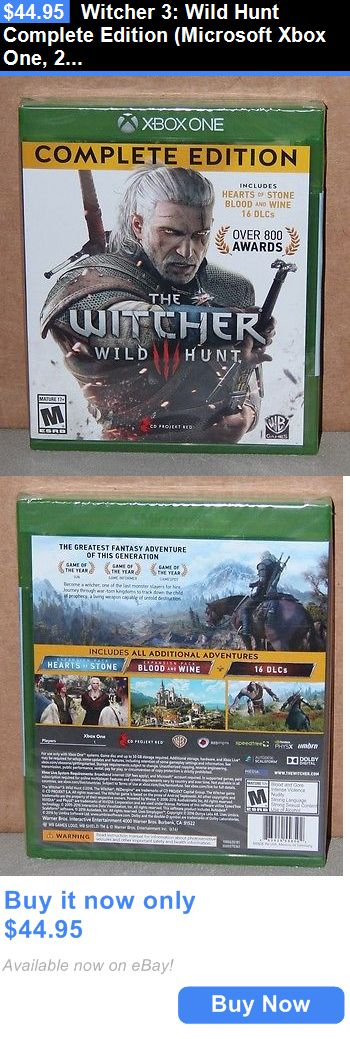 Video Gaming: Witcher 3: Wild Hunt Complete Edition (Microsoft Xbox One, 2016) Brand New BUY IT NOW ONLY: $44.95