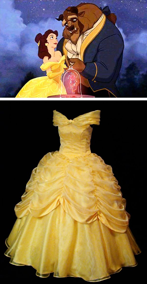 Beauty and the beast belle classic yellow gown yellow for Beauty and the beast style wedding dress