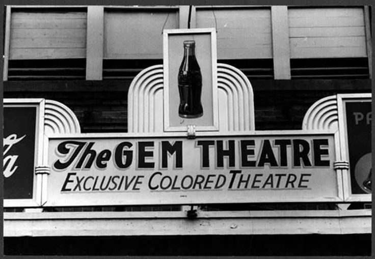 Colored movie theater in Waco, Tx 1939