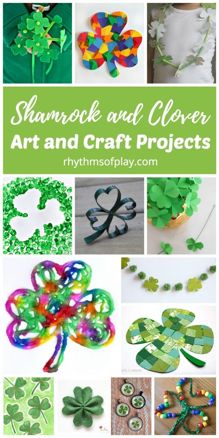 Shamrock And Four Leaf Clover Art And Craft Ideas St Patricks