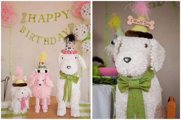 Adorable Dog-Themed Birthday Party! on http://pizzazzerie.com