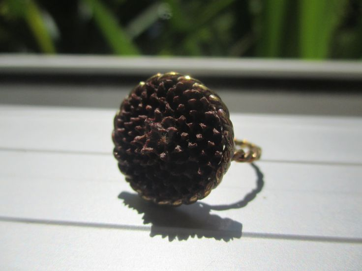 Protea Brass Ring by Picossa on Etsy