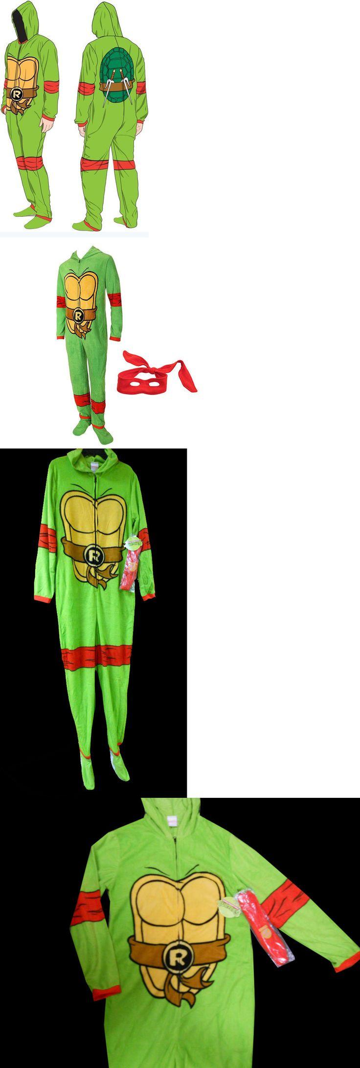 Sleepwear and Robes 11510: Mens Teenage Mutant Ninja Turtles Raphael Footed Pjs Union Suit Hood - S M L Xl -> BUY IT NOW ONLY: $34.99 on eBay!