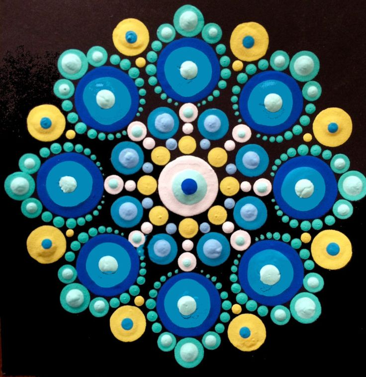 Blue & Yellow Mandala