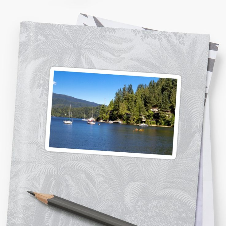 Vancouver – Canada. The village on the slope of Deep Cove in North Vancouver  British Columbia, bay,  coastline   and  forest, Marina yachts and kayaking • Also buy this artwork on stickers, apparel, phone cases, and more.