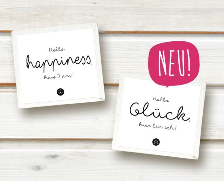 HALLO GLÜCK ... HELLO HAPPINESS - Bild (3D Rahmen) von Soul Directors Club . Products for a Happy Life auf DaWanda.com