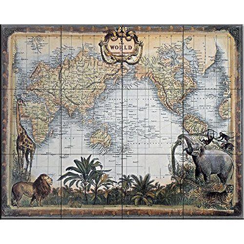 Carte Géante du Monde Pour Mur- Classique