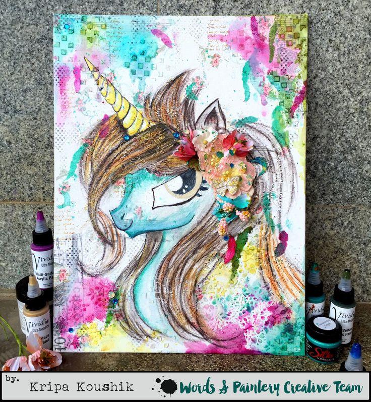 the Colour Press: (VIDEO Tutorial) : DIY Unicorn Wall Decor Canvas