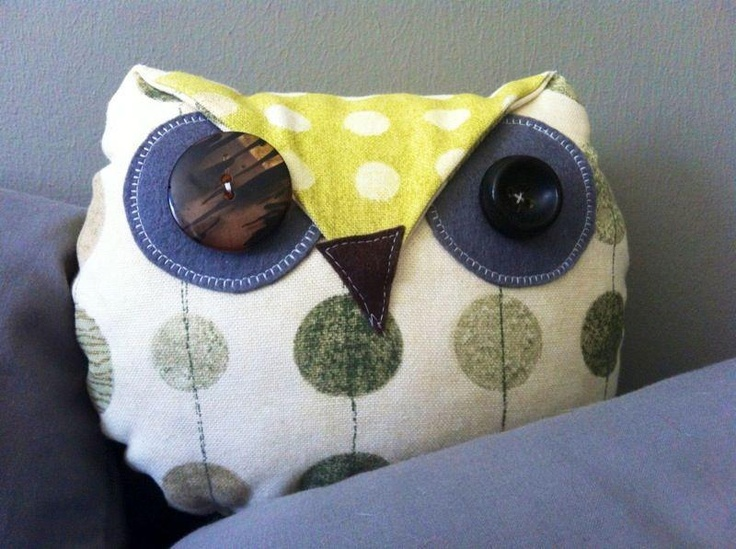 Ms. Owly Whoo Cushionbottom - Sml  Decorative Cushion / Soft Toy by Off the Board Design  http://hellopretty.co.za/board-design