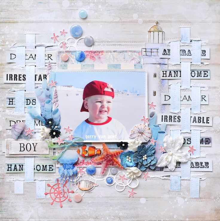 """Hi There!     Today I have a layout to share with you created for 49 and Market  blog .   I featured """"Sand and Sea"""" paper collection inc..."""
