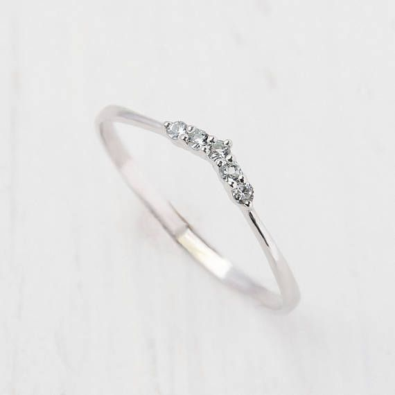 Topaz ring Tiny ring Stacking ring Minimalist silver ring