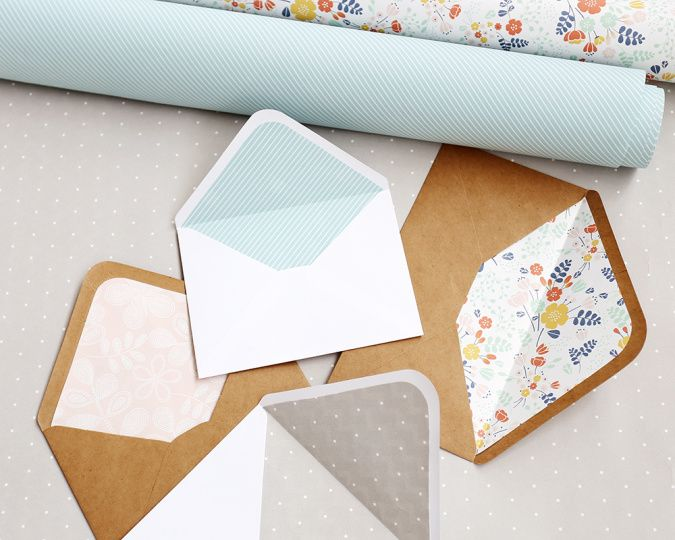 Free Printables : DIY Envelope Liners